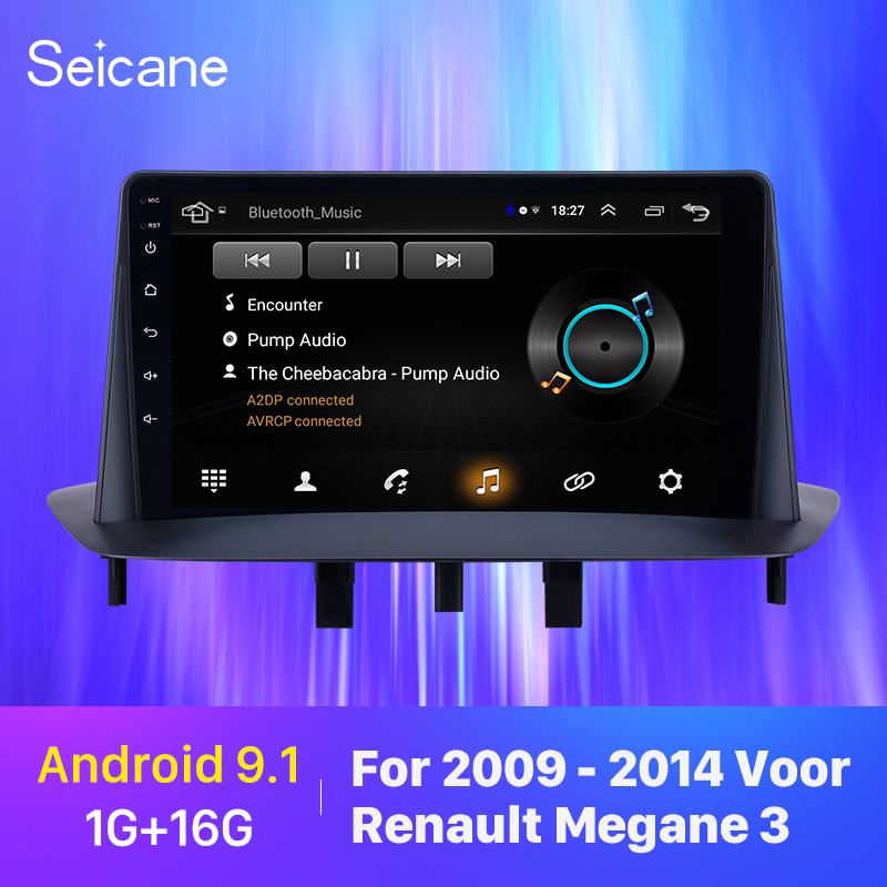 Seicane Car GPS Car Multimedia Player Stereo <font><b>Android</b></font> 9.1 GPS for Renault <font><b>Megane</b></font> <font><b>3</b></font> 2009 2010 2011 2012-2014 support Carplay SWC image