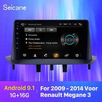 Seicane voiture GPS voiture lecteur multimédia stéréo Android 9.1 GPS pour Renault Megane 3 2009 2010 2011 2012-2014 support Carplay SWC