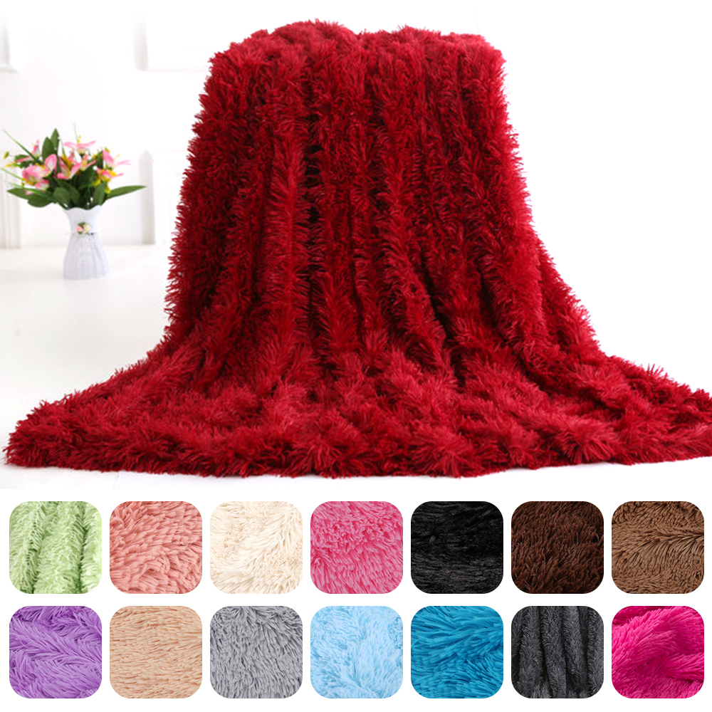 160*200cm  Weight Blanket Faux Fur Throw Blanket Light For Bed Sofa Couch And Living Room Suitable For Fall Winter And Spring