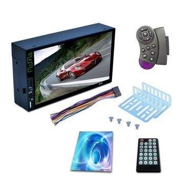 """7"""" Car MP5 Player 2 Din Touch Screen USB TF AUX-in FM RDS Radio Stereo Audio Player Support Rear View Camera"""