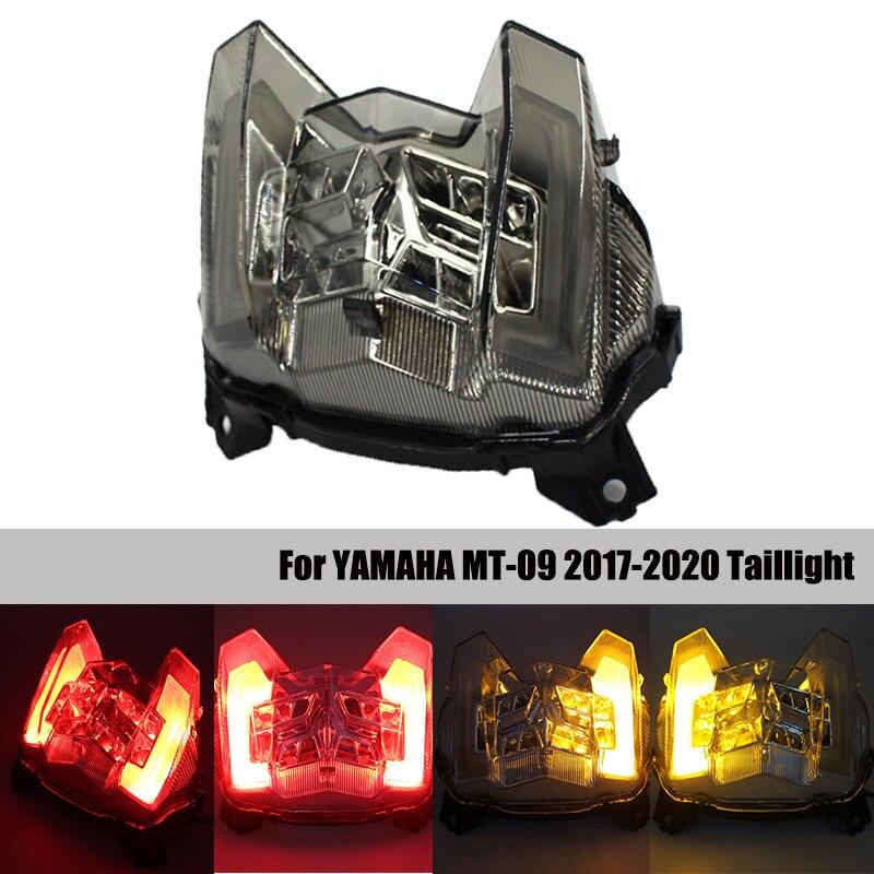 ヤマハ MT-09 MT09 MT 09 2017 2018 2019 オートバイ LED テールライトブレーキリア警告ターン信号インジケータランプテールライト