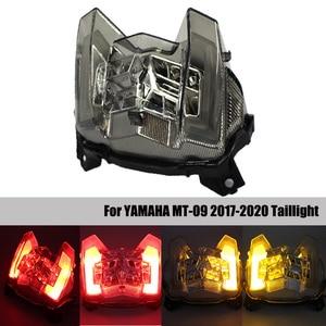 For Yamaha MT-09 MT09 MT 09 2017 2018 2019 Motorcycle LED taillight Brake Rear Warning Turn Signal Indicator Lamp Tail Light