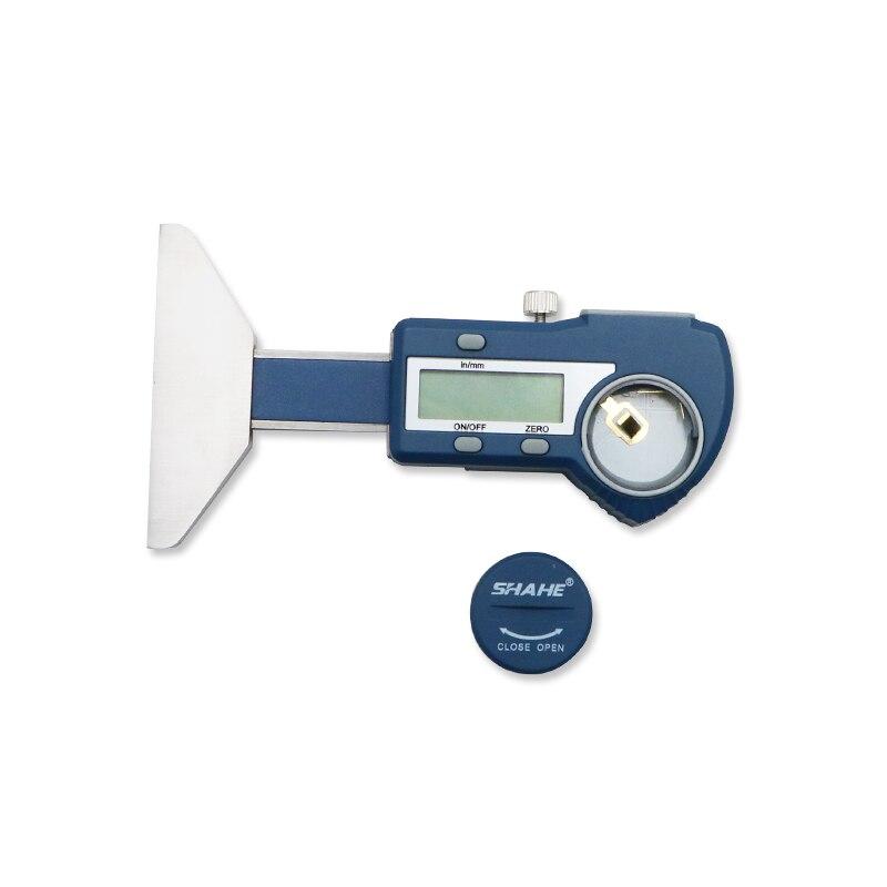 Tools : shahe Digital Depth Gauge Caliper Tread Depth Gauge For Car Tire 0-25 0-50mm Measurer Tool Depth Caliper LCD Tyre tread gauge