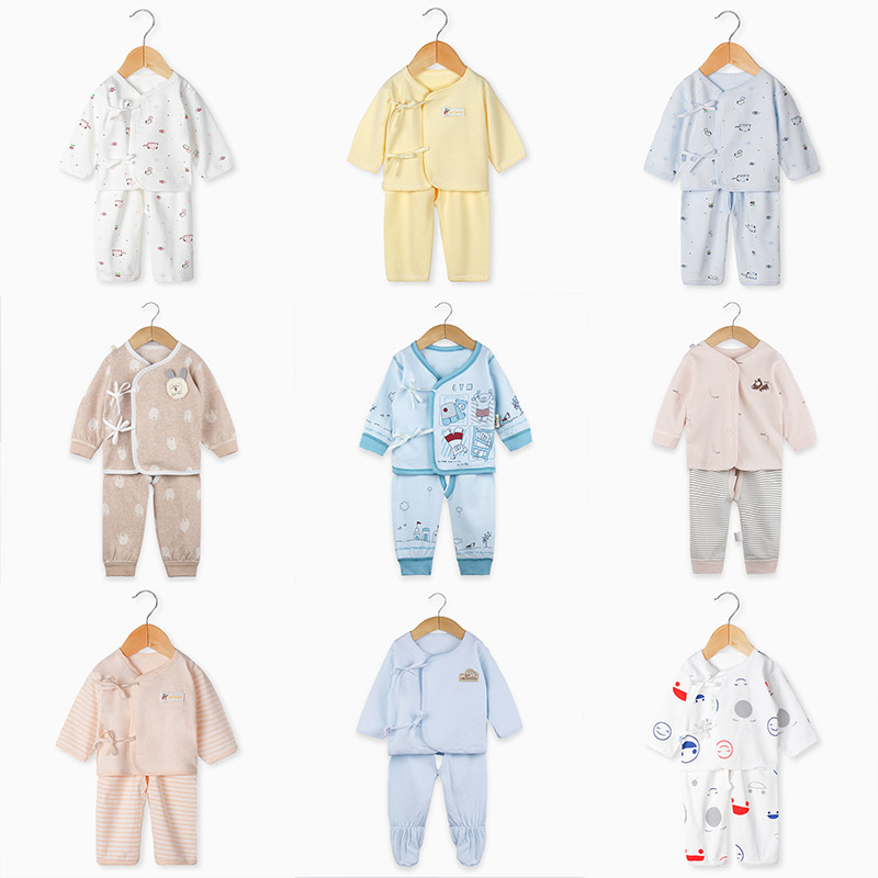 Newborn Baby Infant Clothes Set Cotton Baby Boys Girls Clothes Tops+Pants Suits Cute Cartoon Baby Underwear All Season Style