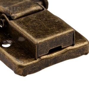 Image 3 - Dophee 5 adet kasa Hasp toka mandal kanca toka kilit takı dekoratif mobilya hediye kutusu ahşap pirinç