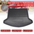 Для Mazda CX-5 CX5 MK2 2017 2018 2019 2nd Cargo Liner Boot Tray Задняя Крышка багажника матовый коврик напольный коврик грязевой нескользящий коврик