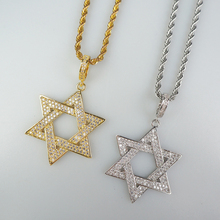 Free-Rope Necklace Pendant Chain Gold-Color Jewelry Gift Iced-Out 18K Hiphop Star