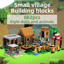 цена на LEGOSinG My World Building Blocks Toys 862pcs farm model City DIY Creative Bricks Educational Kids Toys Compatible All Brands