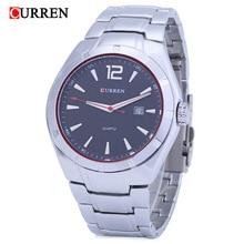 цена на PopularNew fashion trend men's quartz watch calendar quartz watch waterproof steel band men's Watch