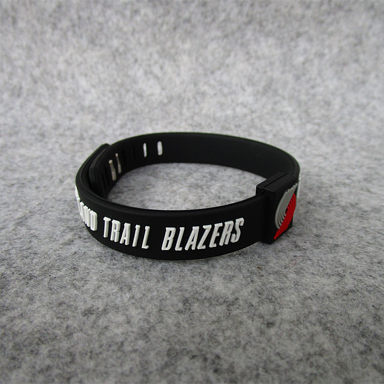 Basketball Team Portland PIONEER Team Sports Bracelet Silica Gel Adjustable Wrist Strap Bracelet With Fans Accessories