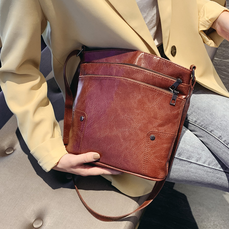 Casual Female Handbag Leather Pouch Crossbody Bags For Women 2020 Designer Luxury High Quality Shoulder Messenger Bag Purse SAC