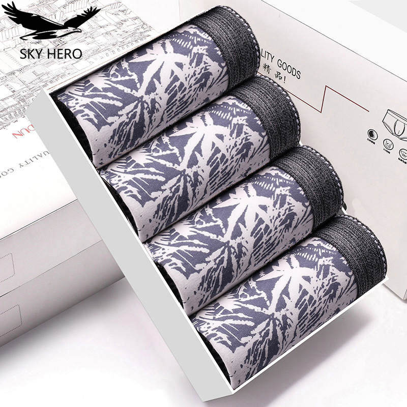 4pcs/lot Male Panties Cotton Boxers Underwear Comfortable Breathable Men's Underpants Trunk Brand Shorts Man Boxer