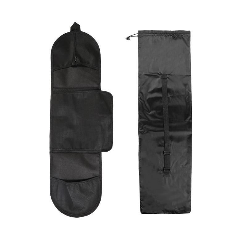 Portable Skateboard Carry Bag Outdoor Adjustable Black Storage Shoulder Bag Dance Board Drift Board Travel Longboard Rucksack