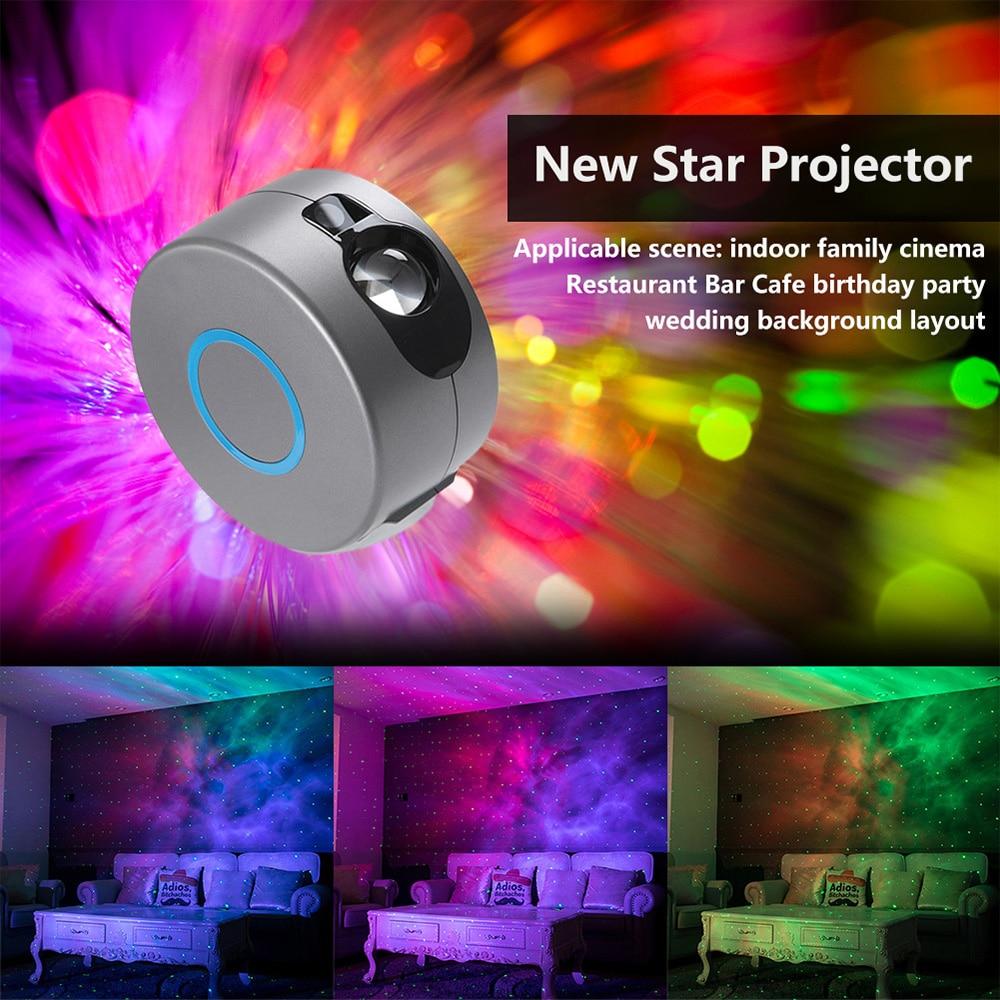 【3D Aurora】laser LED Starry Sky Star Projector Light Nebula Night Lamp Rotation