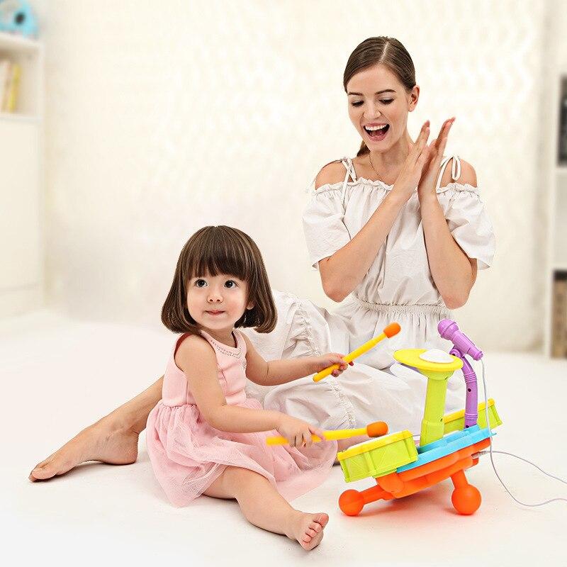 Qiao wa article jouet pour enfants Kit de batterie Jazz tambour jouet pour enfants cadeau bébé enfants musique Instrument éducatif
