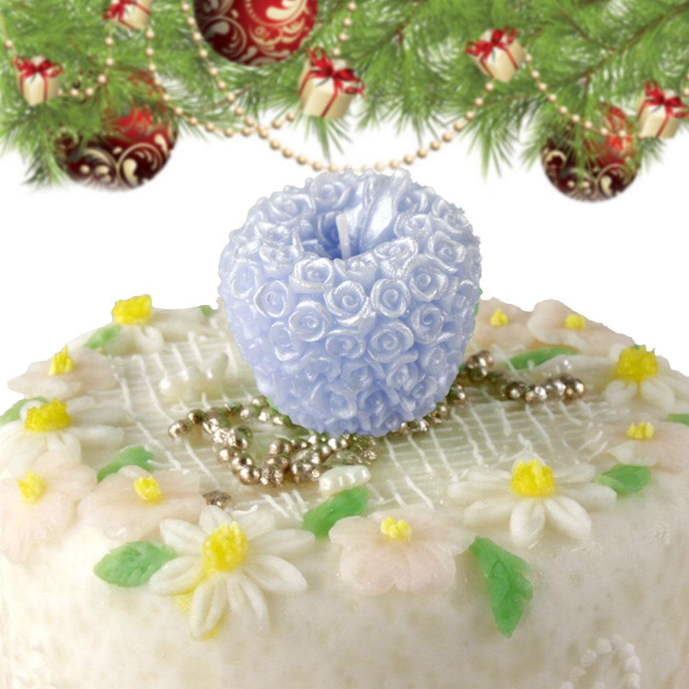 Роза Свеча в виде яблока Рождество День святого Валентина свадебные свечи подарки
