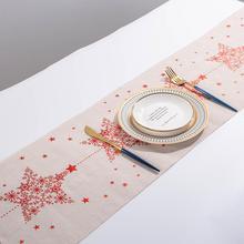 270 см Рождественская длинная скатерть из хлопка и льна, вечерние скатерти в деревенском стиле, Свадебный Декоративный домашний текстиль, домашний декор@ 12