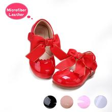 Pettigirl New Designs Girls Bow Shoes 5 Colors Microfiber Leather Shoes Handmade Children Shoes US Size (Without Shoe Box)