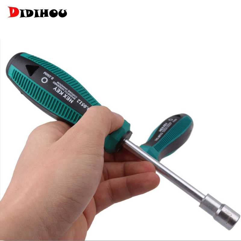 3MM-14MM Socket Wrench Screwdriver Rust Proof Metal Hex Nut Key Manual Tool Screwdriver Hand Tools For Home Woodworking