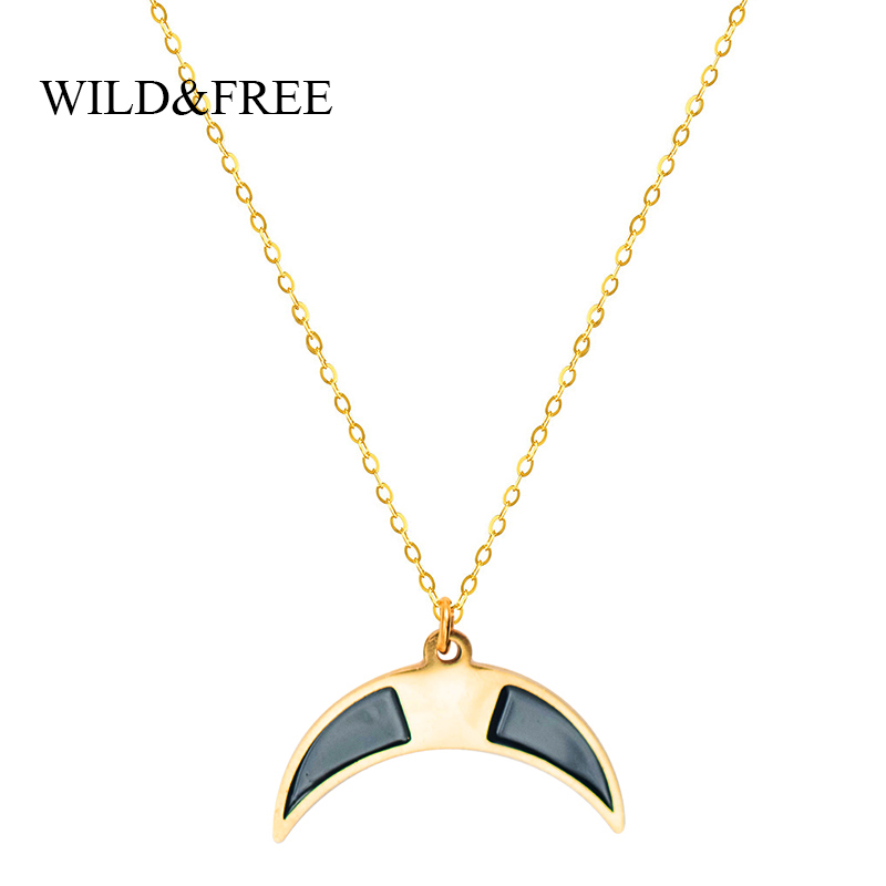 Retro Three-Layer Flower Beads Crescent Moon Necklaces for Ladies Summer Shan