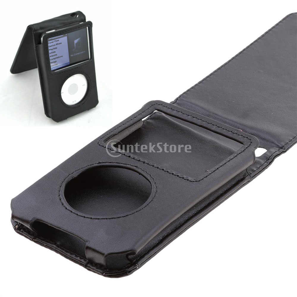 Pu Leather Case For Ipod Video 30 80 120gb Ipod Classic 5th 6th Gen With Movable Belt Clip Black Aliexpress