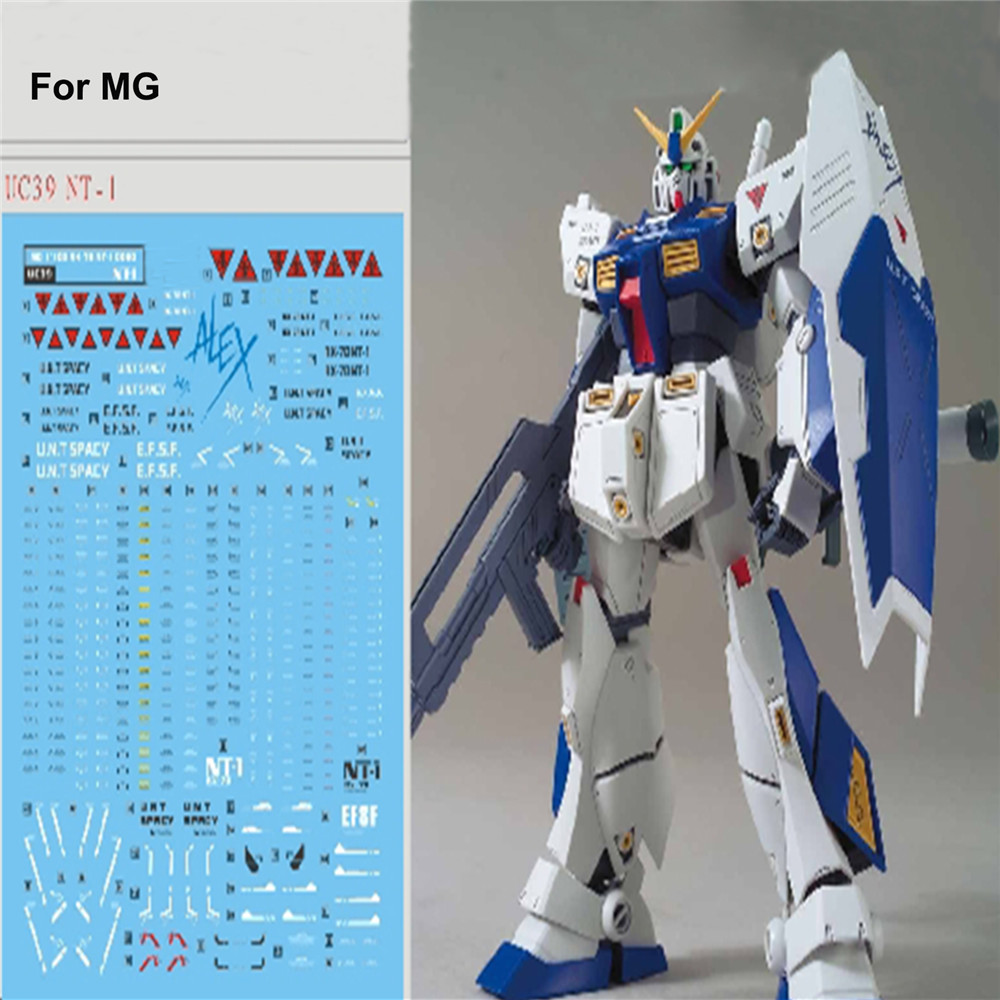 DIY Water Slide Stickers For Bandai MG 1/100 RX-78 NT-1 Gundam Alex Ver 2.0 Model Decal