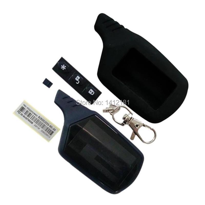 A91 Keychain Body Case + Silicone Case For 2 Way Car Alarm LCD Remote Control Key Fob Chain Starline A91 A61 B9 B6 B91 B61 V7