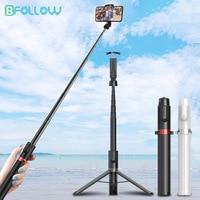 BFOLLOW-Palo de selfi largo, trípode 3 en 1 de 130cm / 51 pulgadas, inalámbrico por Bluetooth, para hacer videollamada en teléfono móvil, iPhone y Huawei