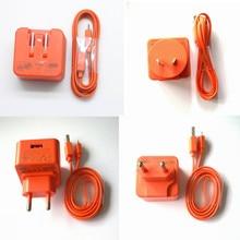 EU/KR 5V 2.3A caricabatterie adattatore ca caricabatterie USB cavo di ricarica cavo di alimentazione per JBL Flip 3 4 Pulse 2 Charge 3 Speaker arancione