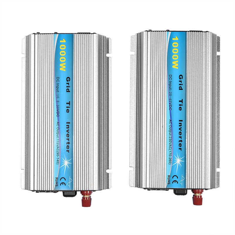 Şebeke bağlantı invertörü 1000W MPPT mikro 230 V/115 V paneli 36 hücreleri fonksiyonu saf sinüs dalga çıkış şebeke bağlantı invertörü 11-50V DC