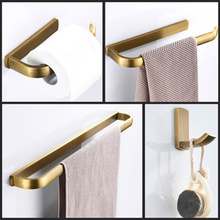 Аксессуары для ванной набор из 4 предметов кольцо для полотенец Держатель крючок аксессуар бронза латунь ванная комната полотенце стеллаж монтируемый на стену Туалетная рулонная бумага держатель
