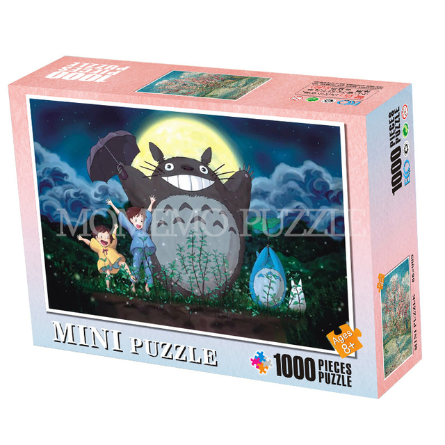 MOMEMO My Neighbor Totoro Puzzle Toys 1000 Pieces Puzzle for Adults Cartoon Anime Wooden Jigsaw Puzzle Kids Educational Toys