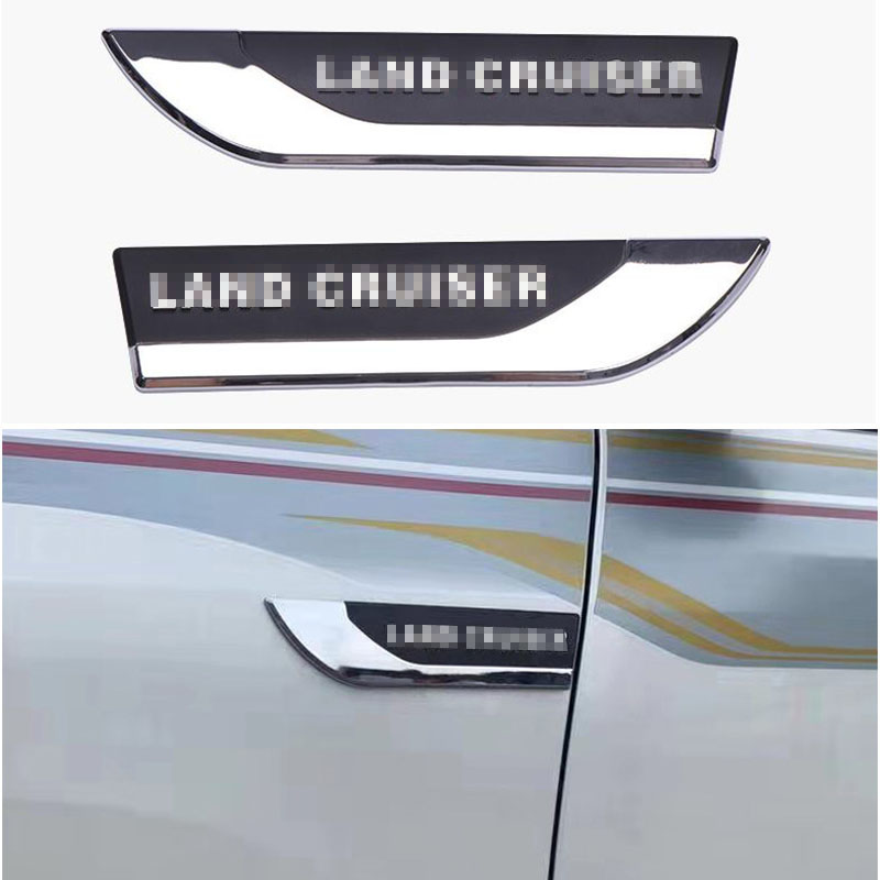 2003-2020 FJ200 <font><b>FJ150</b></font> FJ120 Stainless ABS OE Style Side Emblem Sticker For <font><b>Toyota</b></font> <font><b>Land</b></font> <font><b>Cruiser</b></font> 200 <font><b>Prado</b></font> 150 Accessories image