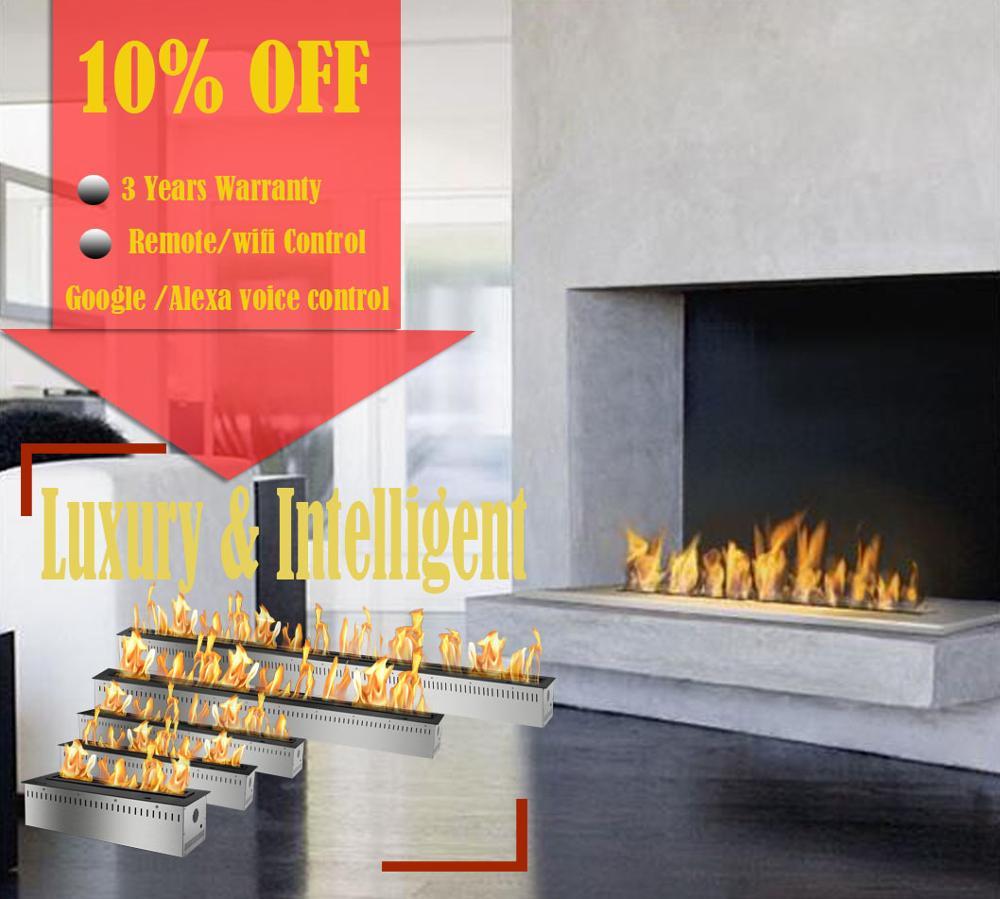 Inno Living Fire 72 Inch Indoor Gel Fireplaces Wifi Remote Ethanol Burner Insert