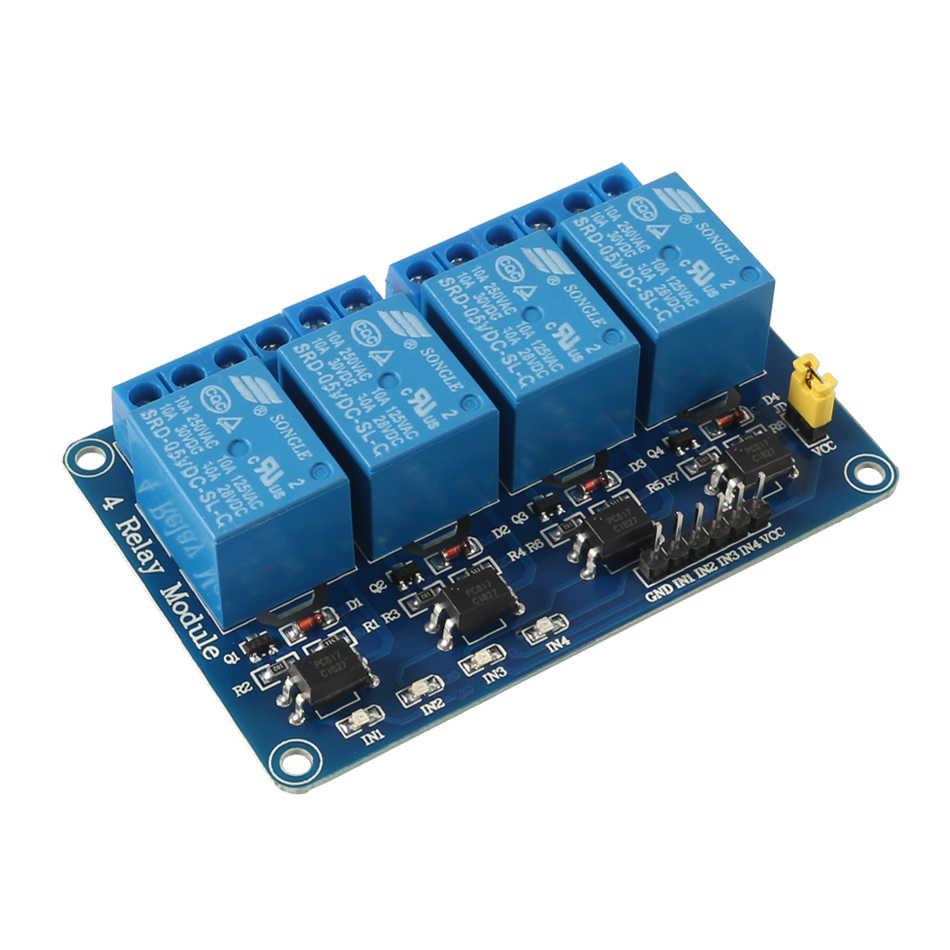 4 katı Durum Röle Modülü Kurulu Tetik Düşük DSP seviye 5 V DC Arduino Ahududu Pi için AVR PIC ARM