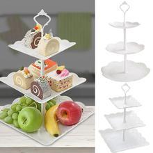 3-х уровневый чашка подставка для тортов десертов свадебное мероприятие вечерние Дисплей башня пластина presentoir торт#3N27
