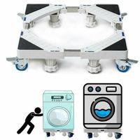 Reino unido aparelho ajustável rolo motor rodas rodas rodas rodas rodízios base máquina de lavar roupa|Acessórios de móveis| |  -