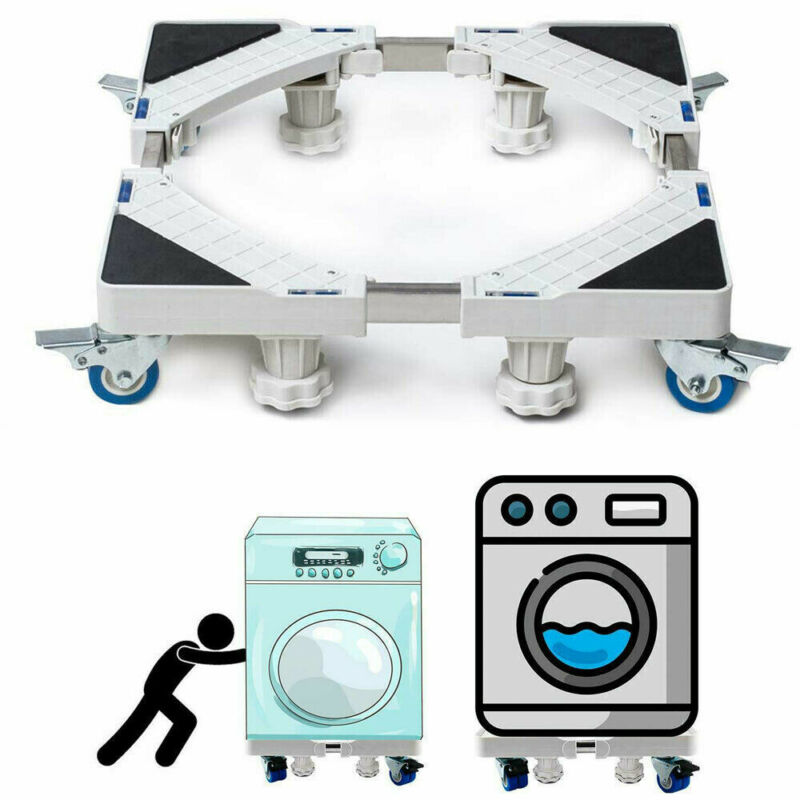 UK Adjustable Appliance Roller Mover Trolley Wheels Base Castors Washing Machine