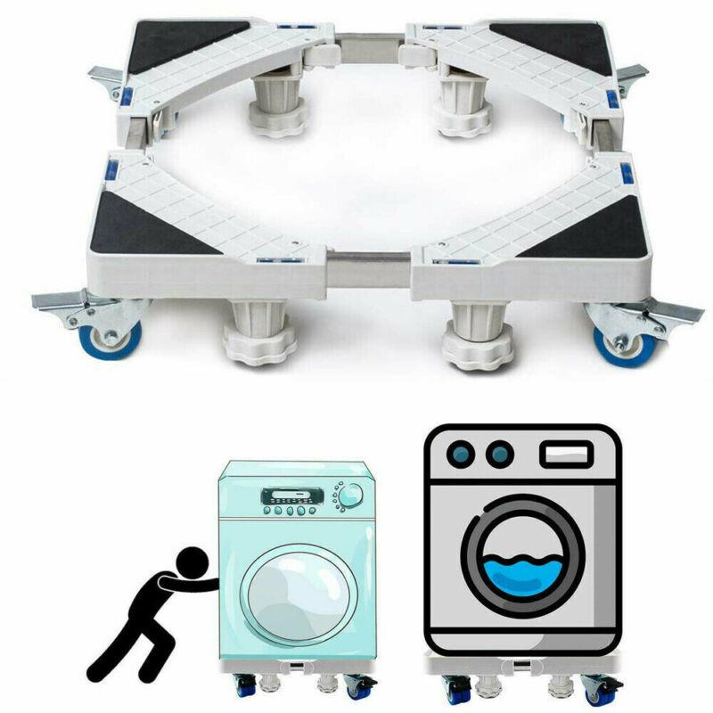 UK Adjustable Appliance Roller Mover Trolley Wheels Base Castors Washing Machine
