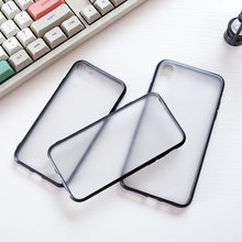 Mewah Transparan Permukaan Matte Lembut TPU Mobile Phone Case untuk Infinix S4 Panas 7 7 Pro Smart 2 3 Plus fundas Coque Capa(China)