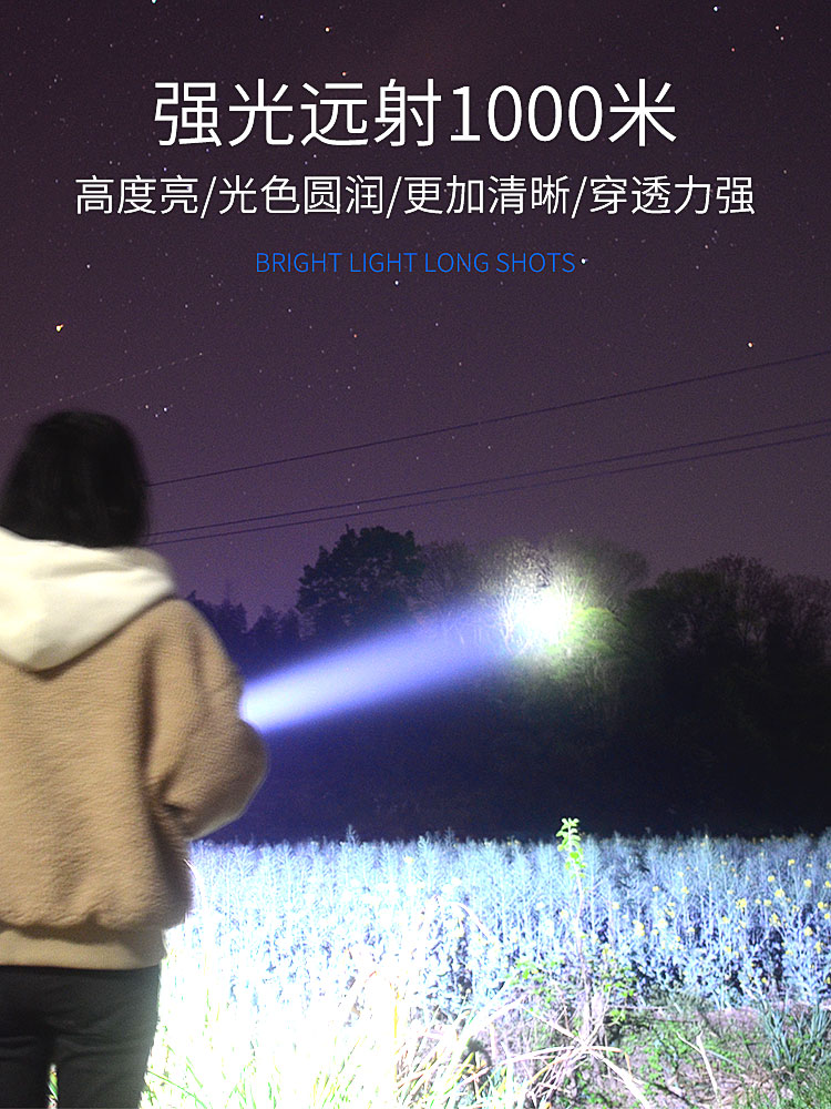 ar livre poderosa luz lanterna eletrica portatil iluminacao acampamento ei50sd 02