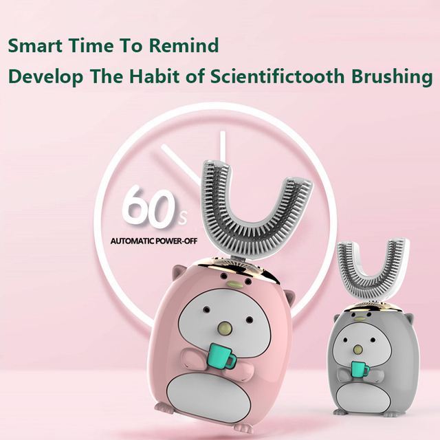 New Hot Children Electric Toothbrush Cartoon Pattern Tooth Brush Electric Teeth Tooth Brush For Kids with Soft Replacement Head 5