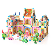 268pcs Master architecture building blocks toy Childrens wooden Model Building Kits House models Assembling block baby gift
