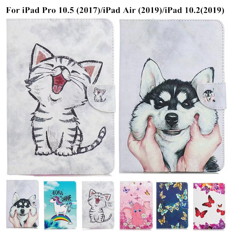 For iPad Air 3 Pro 10 5 2019 2017 Case Cute Unicorn Cat Magnetic Tablet Cover