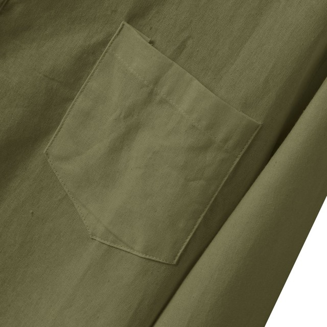 KANCOOLD NEW fashion Mens sweatshirt Autumn Button Vintege Linen and Cotton Long Sleeve Top Blouse sweatshirt dropshipping  725