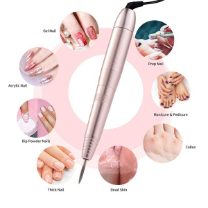 Image 2 - 1 Set Electric Nail Drill Pen Manicure Machine Portable Nail File Drill Grinder Manicure Pedicure Tools Nail Art Tools