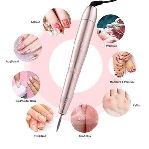 Image 2 - 1 zestaw elektryczna wiertarka do paznokci długopis maszyna do Manicure przenośny pilnik do paznokci wiertarko szlifierka Manicure narzędzia do Pedicure narzędzia do paznokci