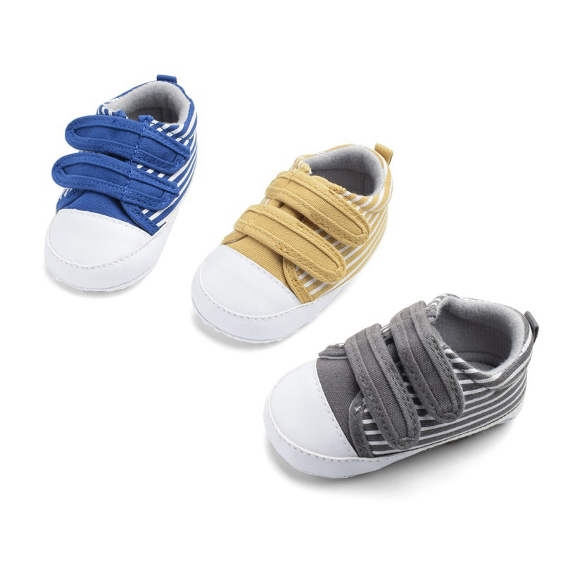 Baby Girl Boy Shoes Newborn Moccasins Cute Fashion Stripe Soft Shoe For Girs Blys Sole Crib Toddler Shoes Canvas Sneaker