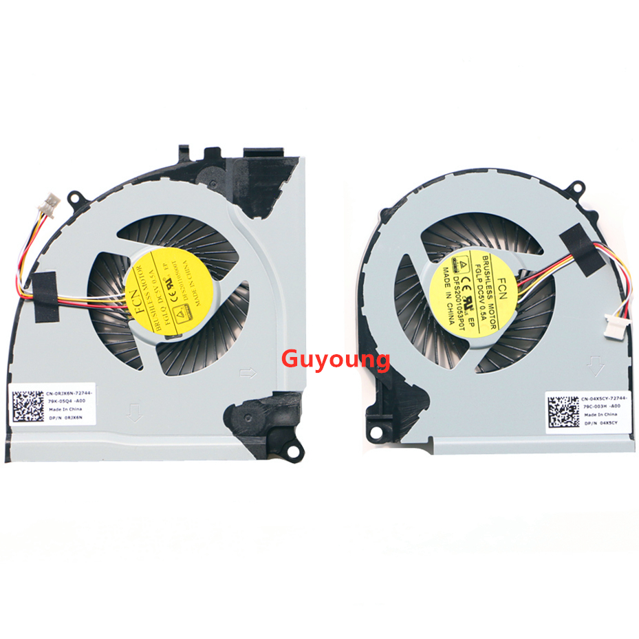 CPU GPU COOLING Fan For Dell Inspiron 15 7000 7557 7559 Fan Cooler 0RJX6N RJX6N 04X5CY 4X5CY FGLP FGLQ