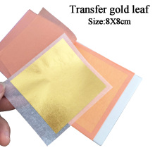 24K gold leaf/ foil ,25pcs for one booklet, transfer leaf ,genuine leaf, making by real gold,8X8 cm ,free shipping